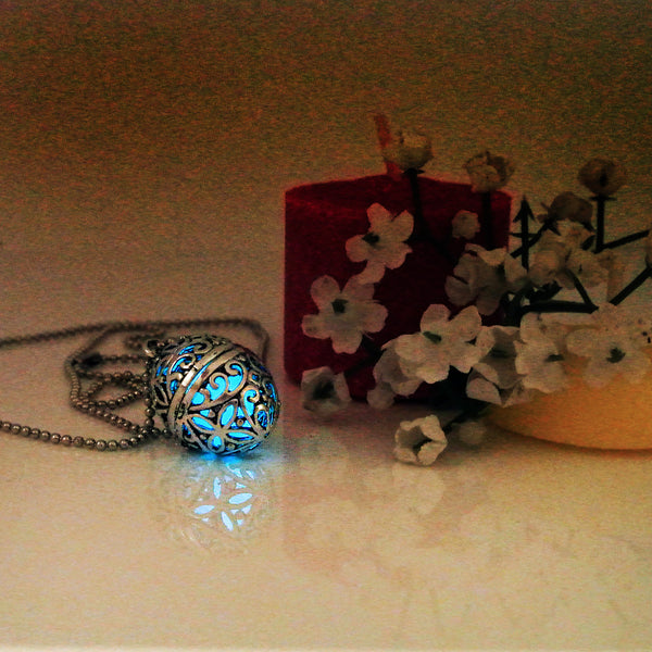 Faberge Egg - Turquoise - www.CuteGlow.com Glow in the dark jewelry