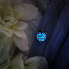 Double Faced Heart - Blue - www.CuteGlow.com Glow in the dark jewelry
