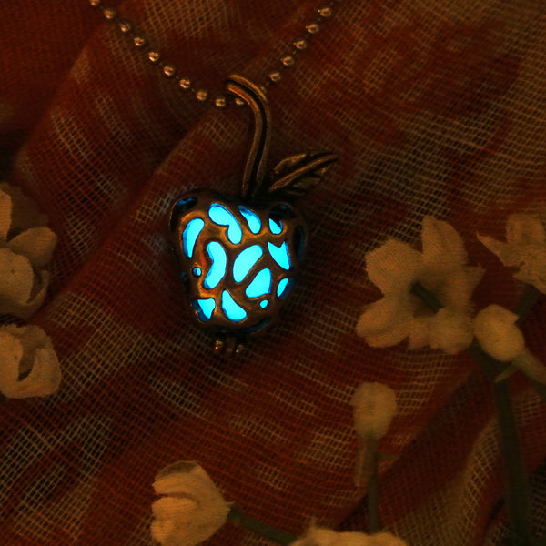 Apple - Turquoise - www.CuteGlow.com Glow in the dark jewelry