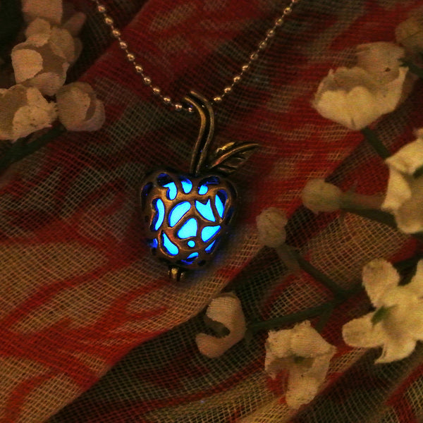 Apple - Blue - www.CuteGlow.com Glow in the dark jewelry