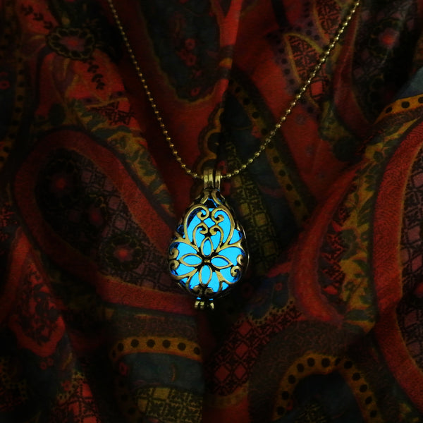 Water Drop - Blue - www.CuteGlow.com Glow in the dark jewelry