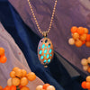 Ladybug - Turquoise - www.CuteGlow.com Glow in the dark jewelry
