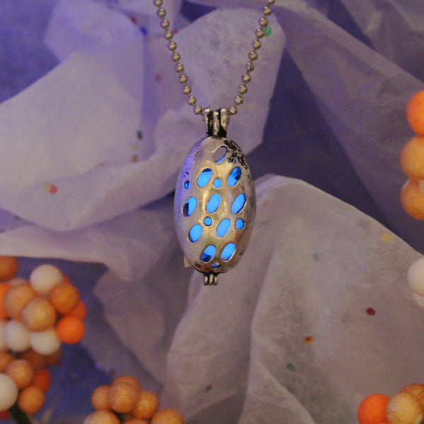 Ladybug - Blue - www.CuteGlow.com Glow in the dark jewelry