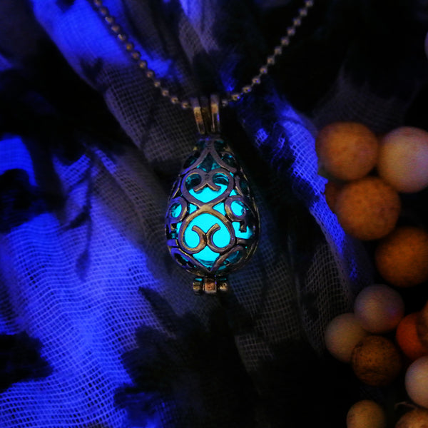 Shiny Drop - Turquoise - www.CuteGlow.com Glow in the dark jewelry