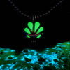 Mini Seashell - Green - www.CuteGlow.com Glow in the dark jewelry