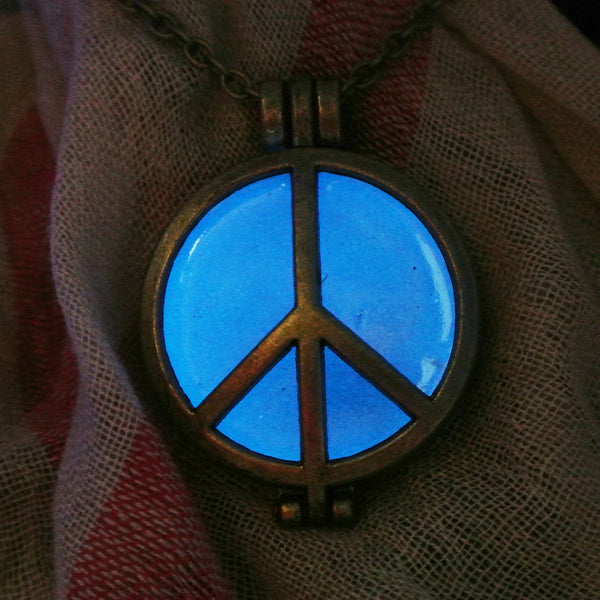 Peace Sign - Blue