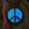 Peace Sign - Blue - www.CuteGlow.com Glow in the dark jewelry