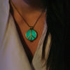 Peace Sign - Green - www.CuteGlow.com Glow in the dark jewelry