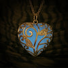 The Big Loving Heart - Turquoise - www.CuteGlow.com Glow in the dark jewelry