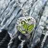 The Tiny Loving Heart - Light Green -  www.CuteGlow.com Glow in the dark jewelry