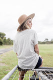 Stripe Tuck pocket tee