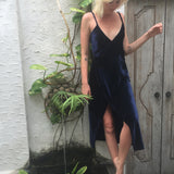 midnight wrap dress