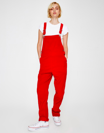 Stanford overalls red