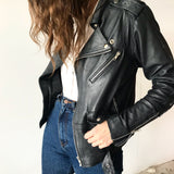 Stevie Leather Jacket Black