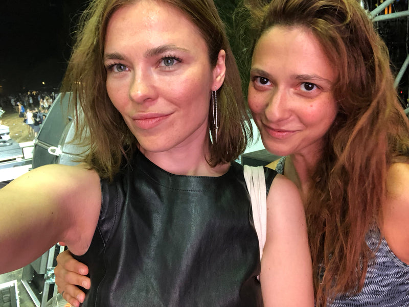 Nina Kraviz & Vika Kagalska designer VIKA jewels recycled sterling silver earrings