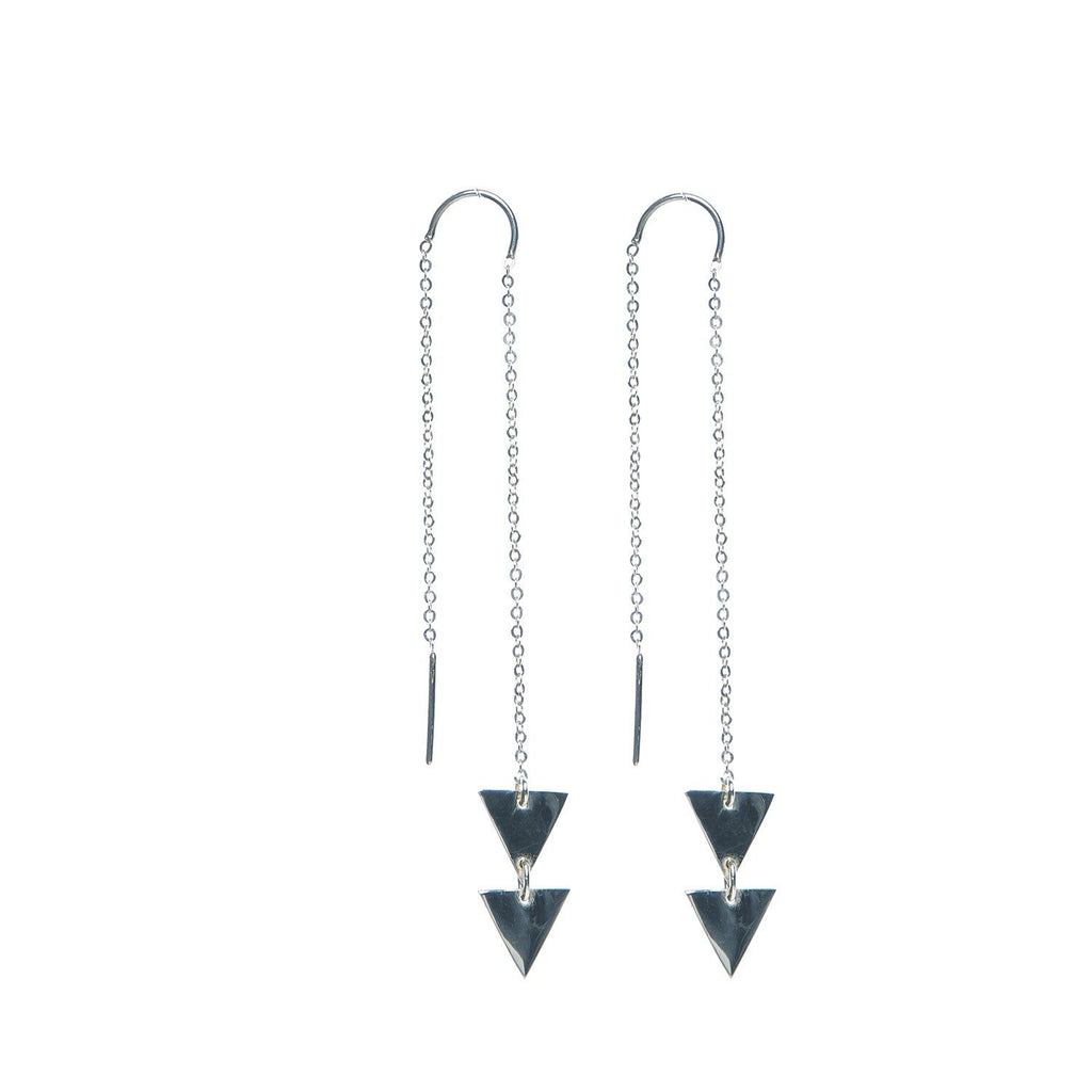 VIKA jewels Thread Faden triangle dreieck Earrings Kette Chain Ohrringe Stecker recycled recycling sterling silber silver handmade handgemacht Bali fashion jewels jewelry schmuck
