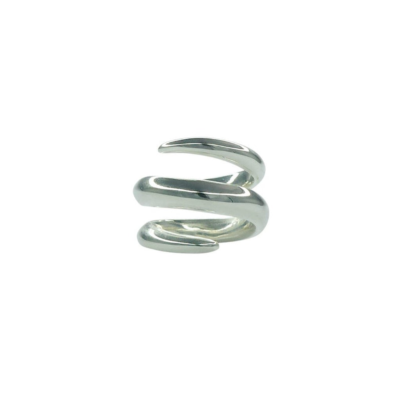 VIKA jewels Double Clasp ring spiral recycled recycling sterling silver silber schmuck jewelry jewellery handmade handgemacht bali