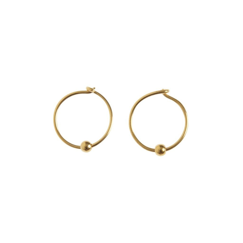 SMALL EARRINGS HOOP gold plated