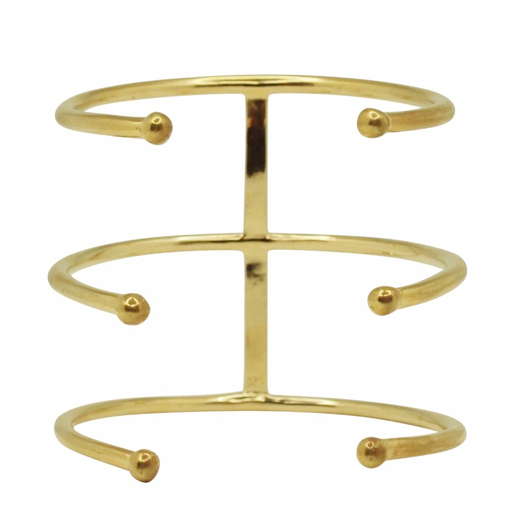 TRIPLE PIERCING BRACELET upper arm GOLD plated