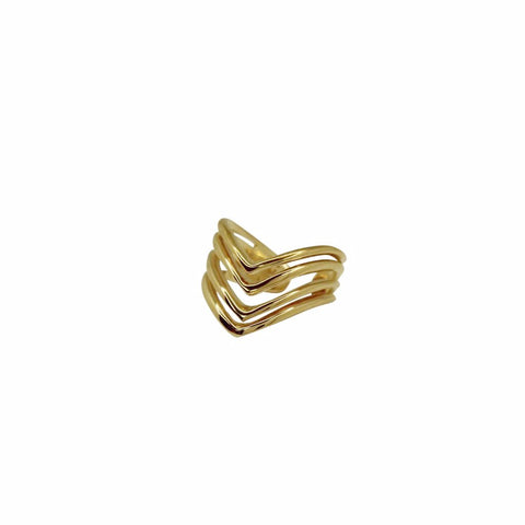 MIGRANT RING Midi gold plated