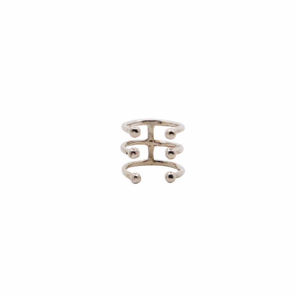 TRIPLE PIERCING RING midi