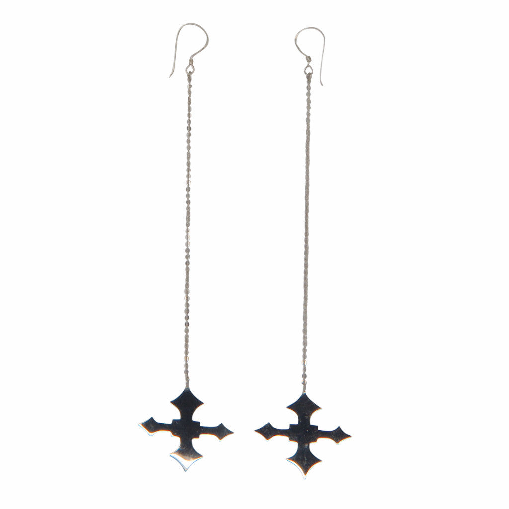 VIKA jewels Ohrringe earrings Kette chain Cross Kreuz Pendant handgemacht Bali recycled recycling sterling silver silber