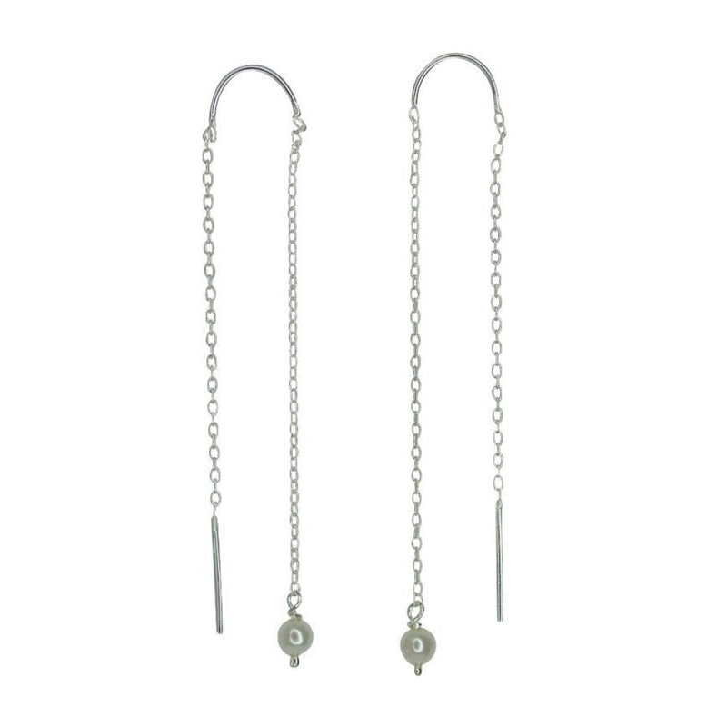 VIKA jewels Pearl Perle Earrings Kette Chain Ohrringe recycled recycling sterling silber silver handmade handgemacht Bali fashion jewels jewelry schmuck