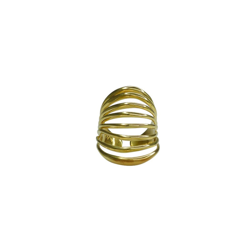 VIKA jewels jewelry jewellery ARMOUR RING 1 fantasia collection recycled sterling silver ring gold 24 carat plated handmade Bali