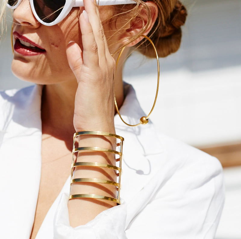BIG HOOPS Gold plated