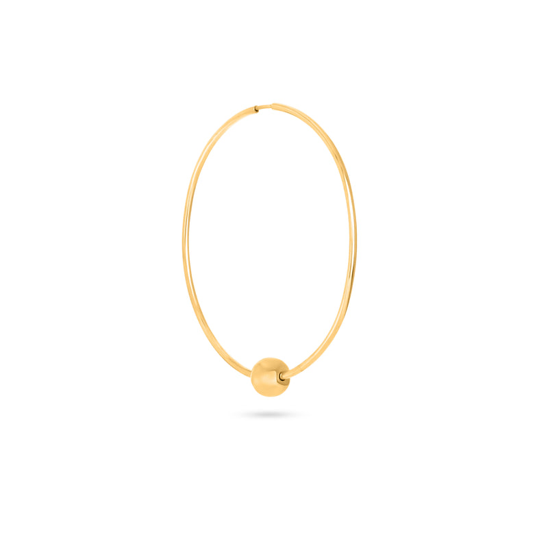 V HOOPS gold plated