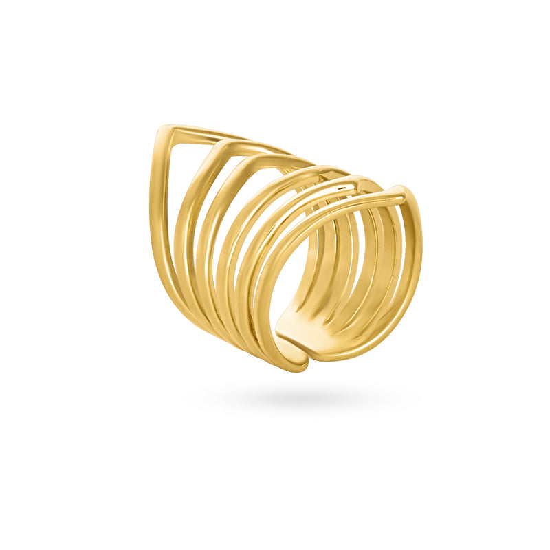 REVOLVING MIRROR RING gold plated