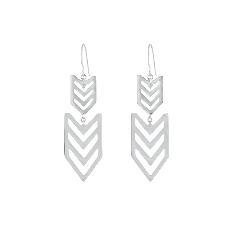 VIKA jewels statement earrings Indian look geometric jewelry jewellery recycled sterling silver handmade in bali with love
