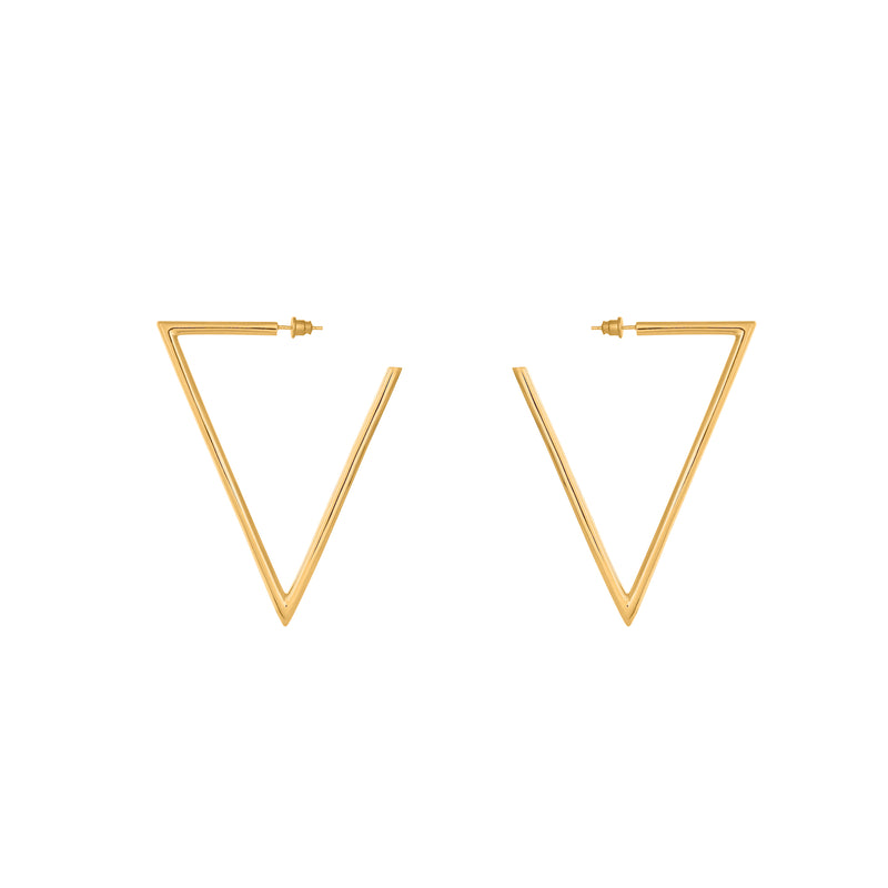 VIKA jewels self love collection V earrings Ohrringe Statement jewel recycled sterling silver silber 18 Karat carat gold plated vergoldet handmade handgemacht bali sustainable ethical nachhaltig schmuck