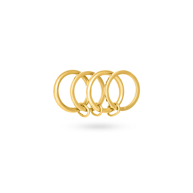 EMBLEM RING gold plated