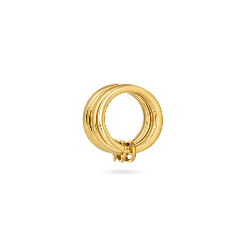 CLASP RING gold plated