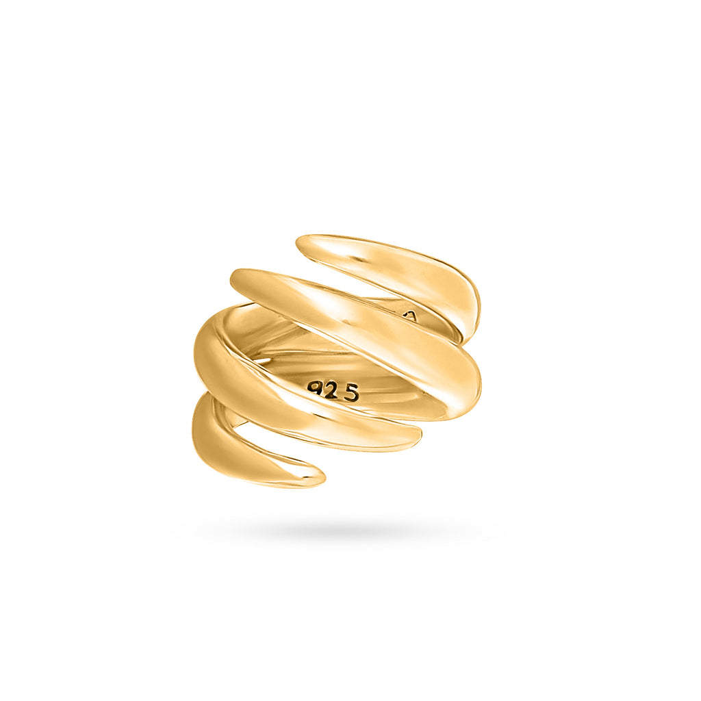 VIKA jewels self love collection twofold clasp 18 carat karat gold plated vergoldet ring recycled sterling silver silber handmade handgemacht bali sustainable ethical nachhaltig schmuck