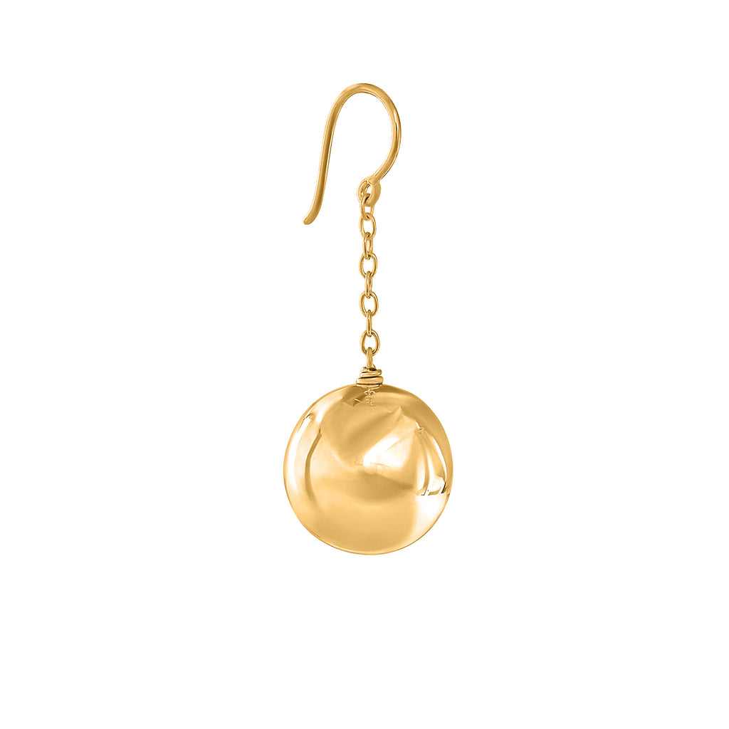 VIKA jewels Ohrringe ball earrings recycled sterling 18 carat karat gold plated vergoldet silver handmade bali berlin silber nachhaltig handgenacht