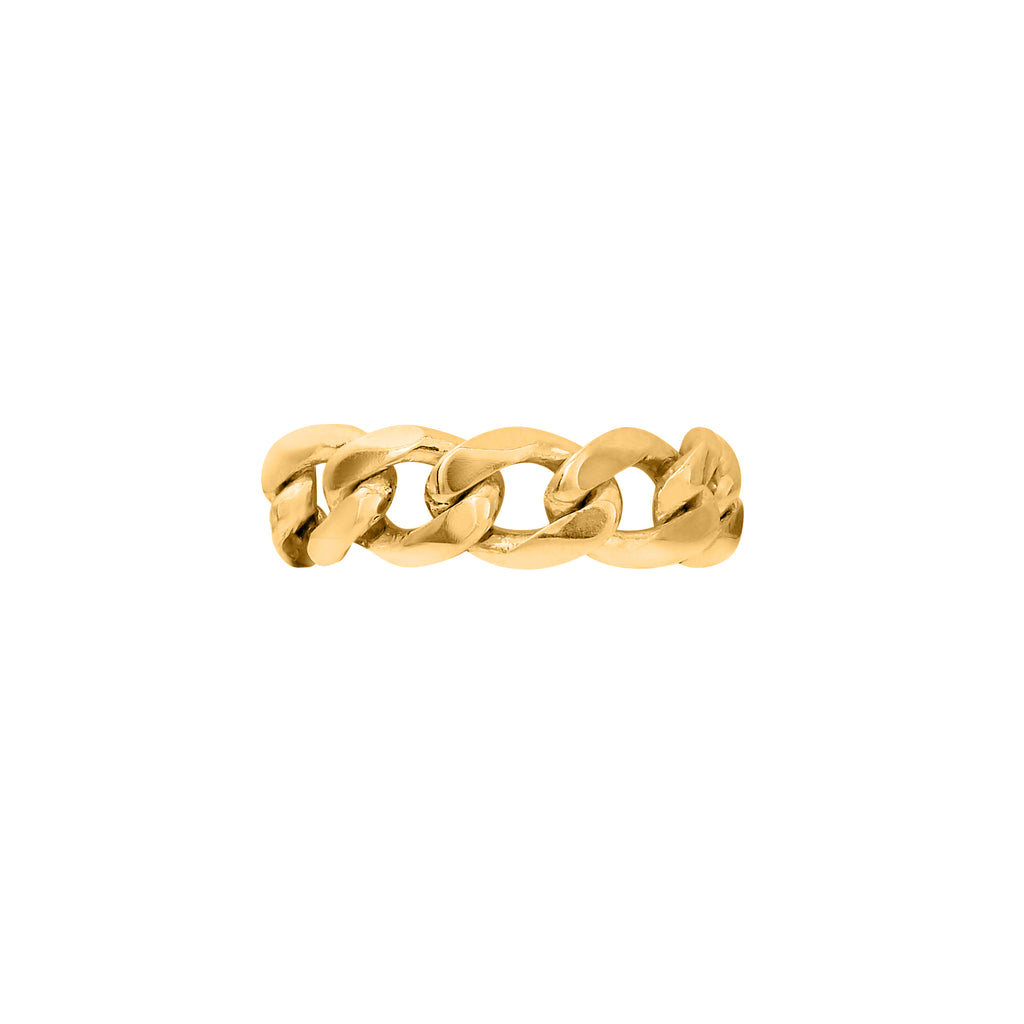 VIKA jewels self love collection wide chain ring recycled sterling silver handmade handgemacht bali sustainable ethical gold plated 18 Karat carat vergoldet nachhaltig unisex