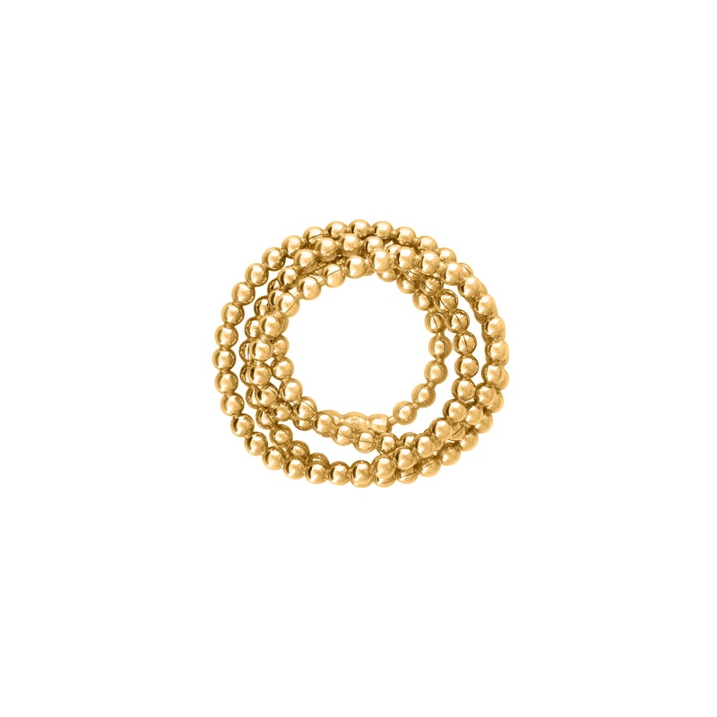 VIKA jewels 18 carat Karat gold plated vergoldet elastic beads chain ring statement handmade Bali recycled recycling sterling silver silber fashion jewellery jewelry Schmuck Berlin