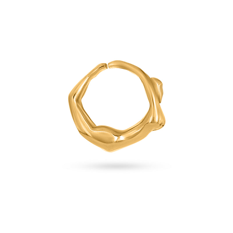 SNAKE RING 2 gold plated