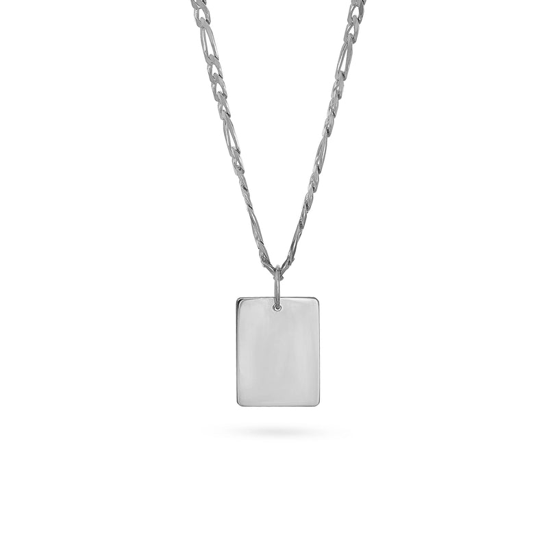 SQUARE MIRROR NECKLACE S