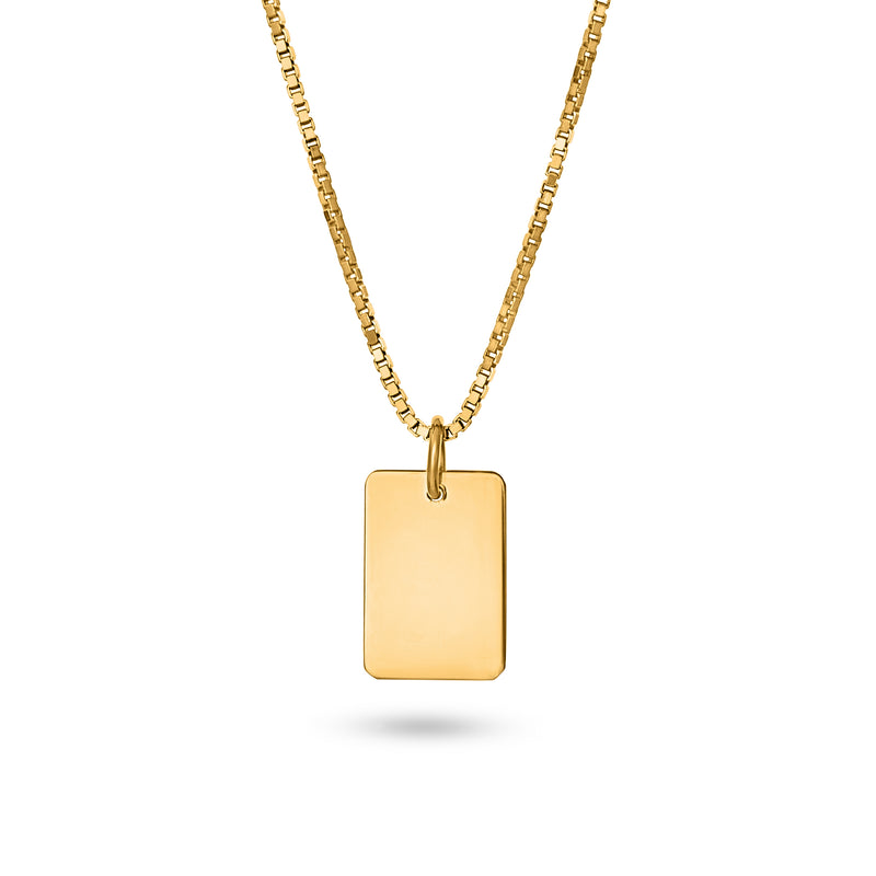 SQUARE MIRROR NECKLACE M gold plated