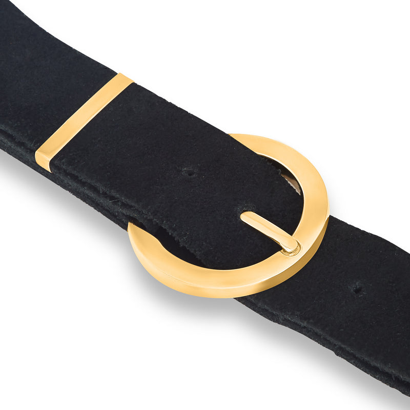 BUCKLE CHOKER BIG gold plated