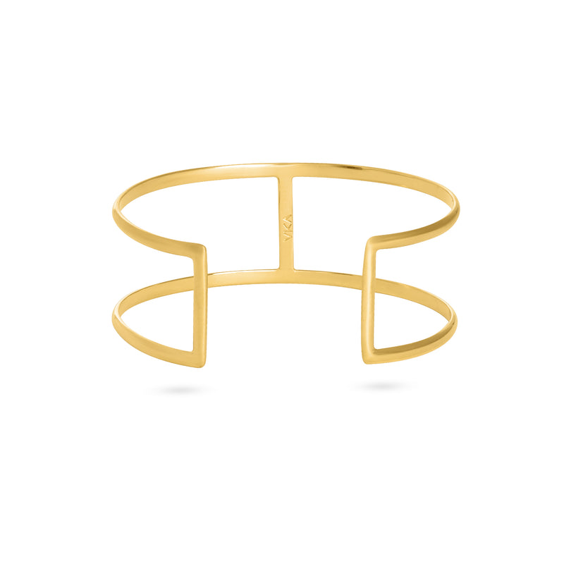 BRIDGE BRACELET medium gold plated