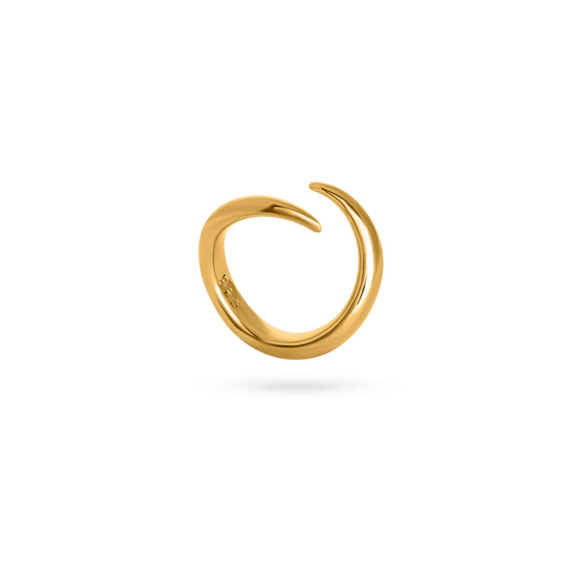 VIKA jewels Ring clasp handmade statement sustainable ethical bali berlin nachhaltig unisex 18 carat karat gold plated vergoldet