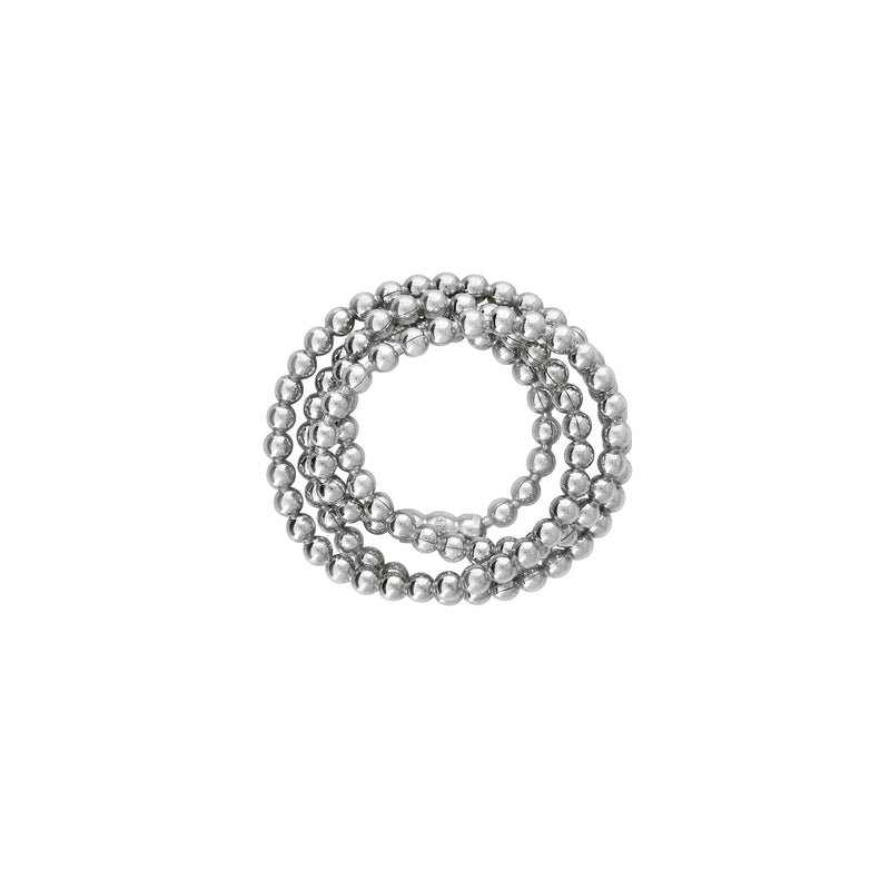 VIKA jewels elastic beads chain ring statement handmade Bali recycled recycling sterling silver silber fashion jewellery jewelry