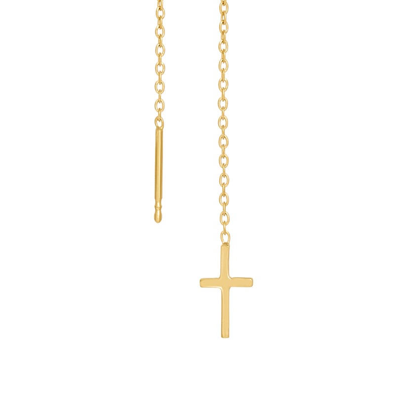 VIKA jewels Voyage Extraordinaire floating cross earrings Ohrringe 18 carat Karat gold plated vergoldet Kreuz recycled recycling sterling silber silver statement handmade handgemacht Bali fashion jewels jewelry musthave schmuck