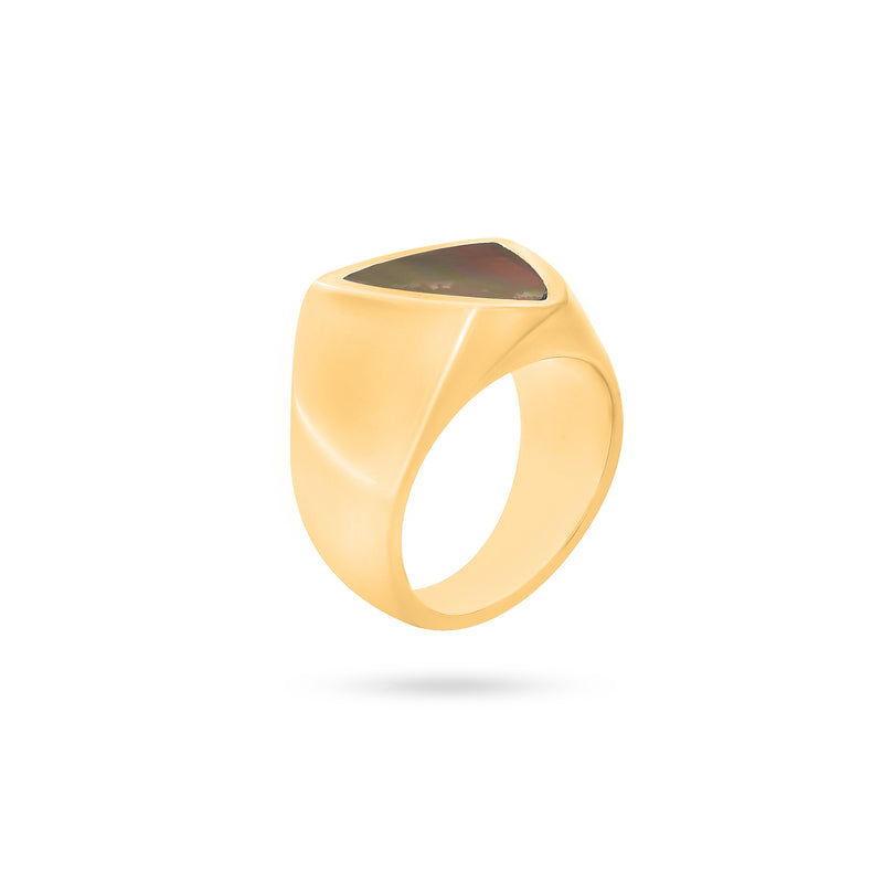SIGNET RING gold plated