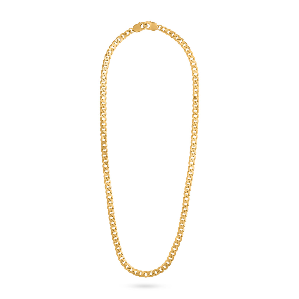 WIDE CHAIN NECKLACE gold plated