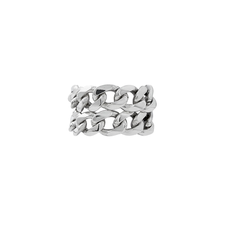 VIKA jewels self love collection wide chain ring double doppelt recycled sterling silver silber handmade bali sustainable ethical nachhaltig schmuck kette